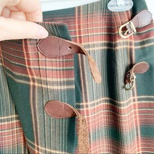 Ralph Lauren Skirts - Lauren Ralph Lauren Tartan Pleated Skirt Wool Sz 6